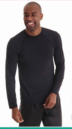 Camiseta Masculina Mangas Longas Antivirais - Amni Virus Bac Off Rhodia