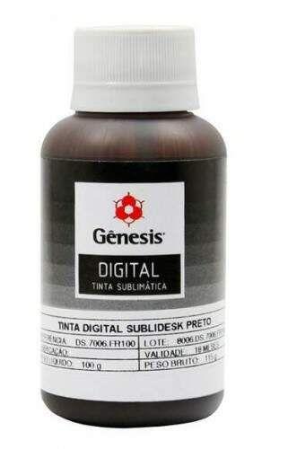 Tinta Sublimática 100ml BLACK  - Gênesis