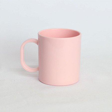 Caneca Plástica Sublimação Premium Rosa Bebê