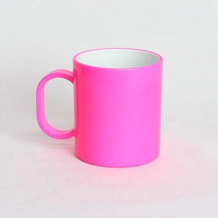 Caneca Plástica Sublimação Premium - Pink