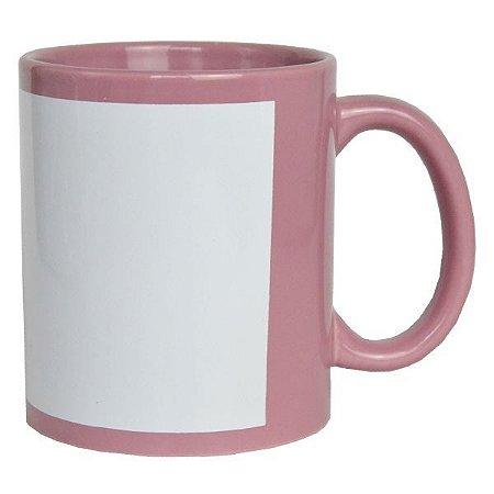 Caneca Porcelana Tarja Branca - Rose