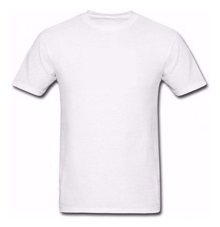 Camiseta Poliéster (6 anos) - Branca