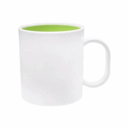Caneca Plástica sublimação interior Premium - Verde