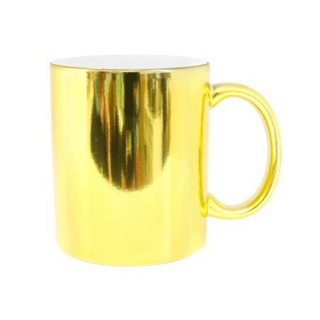 Caneca Porcelana espelhada- Dourada