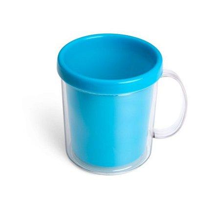 Caneca plástica rosqueável para foto - 350 ml