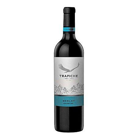 Vinho Argentino Fino Tinto Seco Merlot Trapiche Vineyards 750ml