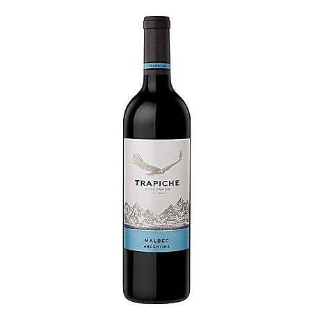 Vinho Argentino Fino Tinto Seco Malbec Trapiche Vineyards 750ml