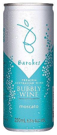 Vinho australiano em lata Barokes Moscatel Doce Frisante 250 ml