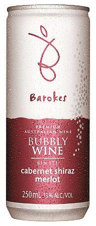 Vinho australiano em lata Barokes Tinto Frisante Cabernet Sauvignon Shiraz Merlot 250 ml