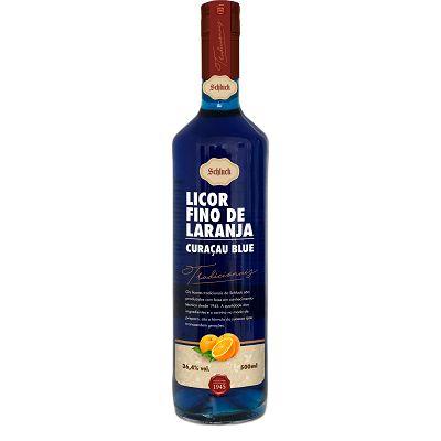 Licor Fino de Laranja Curaçau Blue 750 ml Schluck