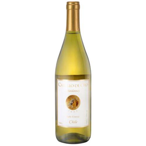 Vinho chileno Caballo de Oro Chardonnay 750ml