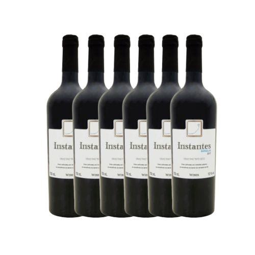 Kit 6 Vinhos Fino Tinto Seco Marselan Instantes Weber 750ml