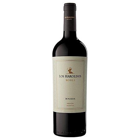 Vinho Argentino Tinto Meio Seco Los Haroldos Roble Bonarda 750ml