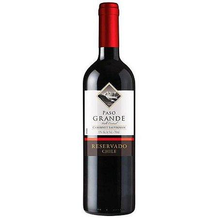 Vinho Chileno Fino Tinto Meio Seco Cabernet Sauvignon Paso Grande Reservado 750ml