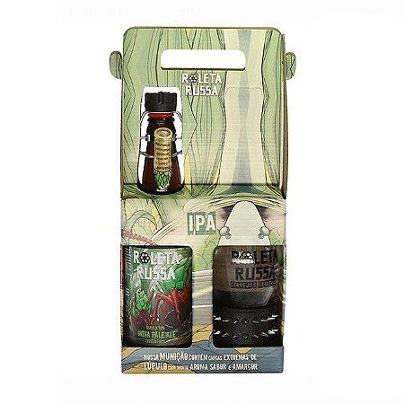 Kit Roleta Russa com 1 Cerveja IPA 500ml e 1 copo de 300ml com 1 Pulseira Spike