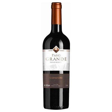 Vinho Chileno Fino Tinto Meio Seco Carménère Paso Grande Private Reserve 750ml