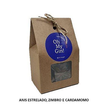 Kit de Especiarias Oh My Gin (Anis Estrelado, Zimbro e Cardamomo)