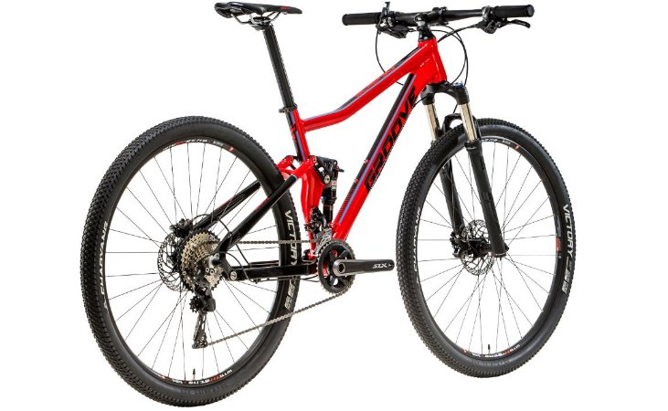 Bicicleta Groove Slap 50 Full Suspension MTB 22v
