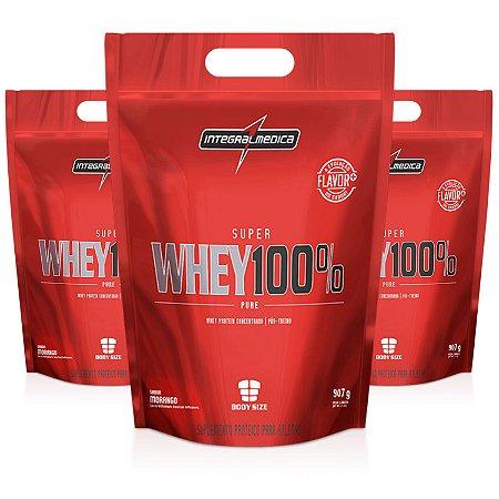 Super Whey 100% Pure Body Size Refil - 907g - Integralmédica