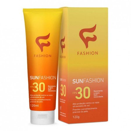 Protetor Solar Sunfashion FPS30 120g - Kit com 06 Unidades