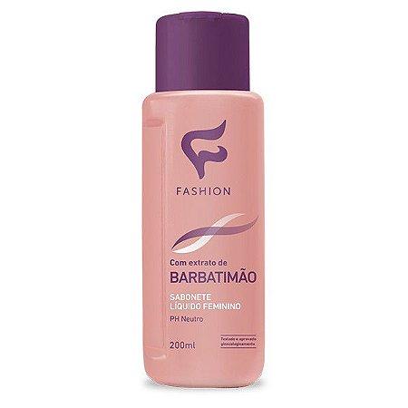Sabonete Líquido Íntimo Feminino Barbatimão Fashion 200ml - Kit com 06 Unidades
