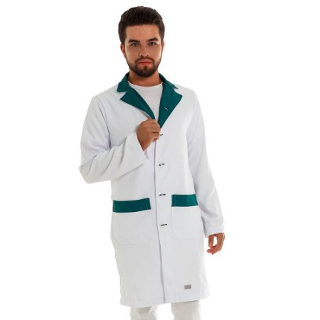 Jaleco Gola Sport- Branco e Detalhe Verde