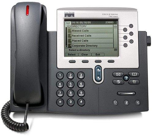 Telefone Cisco 7961 G - IP Phone - 6 LINHAS - Seminovo com Garantia 6 meses