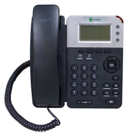 Telefone Khomp POE - IPS 200 GPN - IP - HD voice - 3 Linhas - Seminovo com Garantia 6 meses