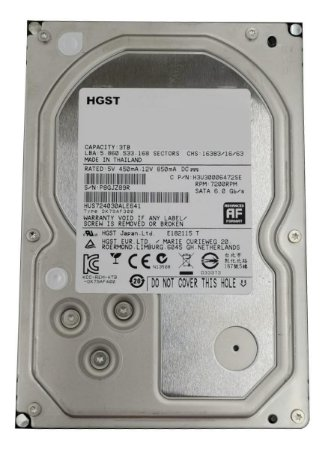 Disco Rígido Interno Hitachi Ultrastar 7k4000 Hus724030ale641 3tb