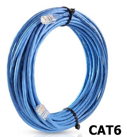 Cabo de Rede Cat6 UTP 4 Pr 24AWG 1.8 mt Azul