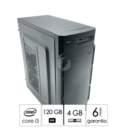 Pc Computador Intel i3 + 4GB DDR3 + 120GB SSD + WiFi - Desktop NOVO com GARANTIA - CPU i3 - Adaptador WIFI USB - Ótimo custo