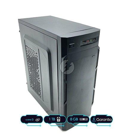 Computador Intel i3 8GB DDR3 + 1 Tera HD SATA - Desktop NOVO - Processador i3 2,93GHz - Áudio com 6-channel HD Áudio Codec on-board