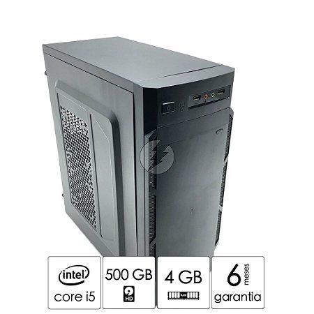 Computador Intel i5 4GB DDR3 + 500GB HD SATA - PC NOVO - Processador i5 Quad Core ate 3,10GHz - Áudio de alta definição