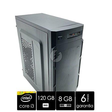 Computador Intel Core i3 + 8GB DDR3 + HD 500GB + 120GB SSD - Áudio com 6-channel HD Áudio Codec on-board - Ótimo Custo Benefício