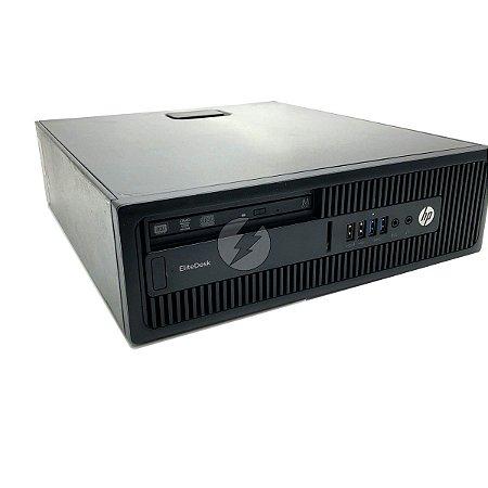 Computador HP EliteDesk G2 A8 3,2GHz + 8GB + 120GB SSD + Win 10 - Desktop Usado com Garantia 6 meses - Processador até 3.7GHz