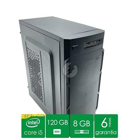 Pc Computador i5 8GB DDR3 + 120GB SSD - Desktop Novo