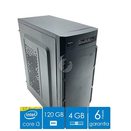 Computador i3 4GB DDR3 + 120GB SSD - Desktop NOVO - Ótimo Custo