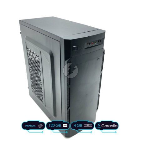Micro Computador Dual Core 2.6GHz + 4GB DDR3 4G + 120GB SSD + WiFi - Desktop NOVO