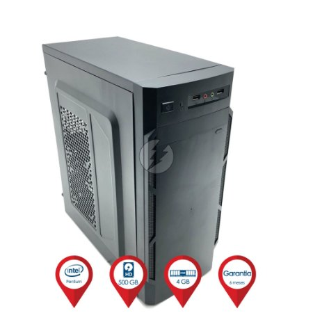 Computador Dual Core 2.7GHz + 4GB DDR3 + 500GB HD SATA + WiFi - Desktop NOVO - Adaptador USB WIFI