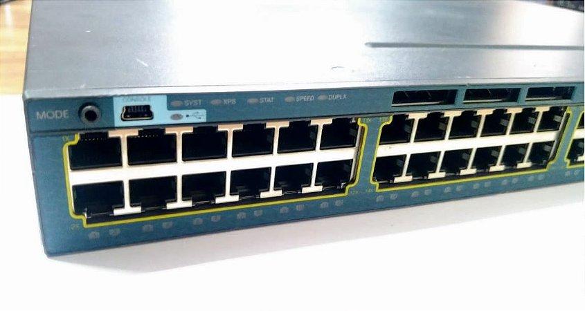Switch Cisco 3560X-48T-E Gigabit + 4x SFP 1gb L3 / USB - NOVO com GARANTIA