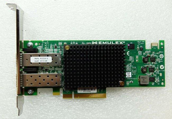 Placa Fiber Channel Emulex Dual Port 10 Gigabit Etherne - Perfil Alto - Produto Novo com Garantia