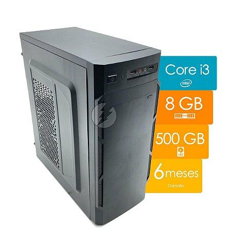 Computador i3 8GB 500GB HD DVD - Novo c/ Garantia - Leitor CD e DVD