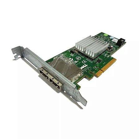 Placa Controladora para Servidores Dell PowerEdge - 6gbps Sas Hba Sas 6gb/s - Dell p/n 12DNW - Perfil Alto