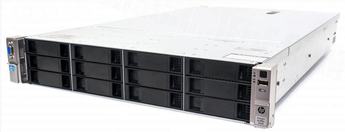 Servidor HP DL380e G8 - 2x Xeon E5-2450L 8core 64GB 600GB SAS - Seminovo c/ Garantia 6 meses