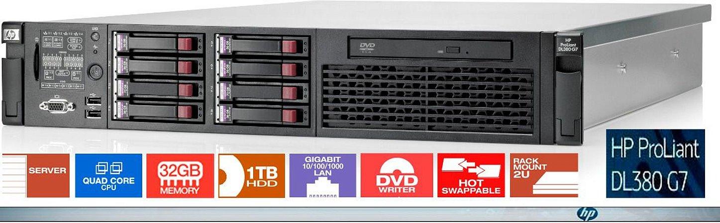 Servidor HP ProLiant DL380 Gen6: 2x Xeon 32GB 1,16TB HD SAS