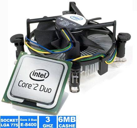 Processador Core 2 Duo E8400 3.0ghz 6mb Lga 775 + Cooler