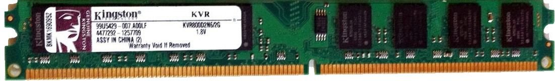 Memória Kingston Ddr2 2gb 2 Giga 800 Mhz