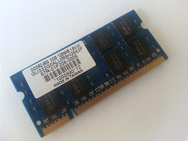 Memória Notebook Netbook 2gb 800 Mhz 1.8v
