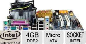 Kit Completo Placa Mãe Intel Lga 775 + Celeron + 4 Giga