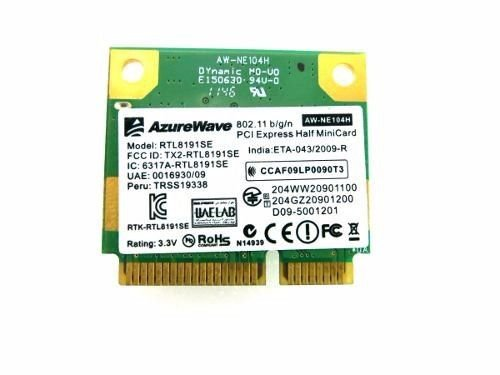 Placa Rede Notebook Wifi Wireless Rtl8191se Realtek